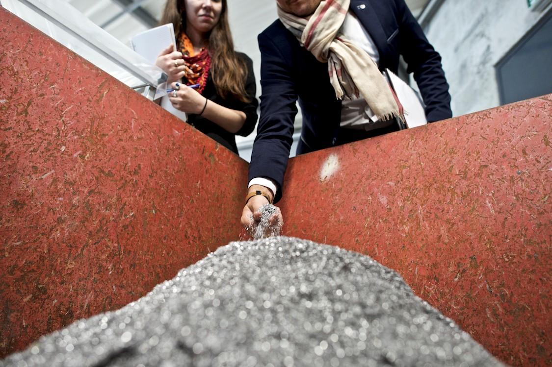 La benne à copeaux d'alu de Cadiou Industrie (Locronan)