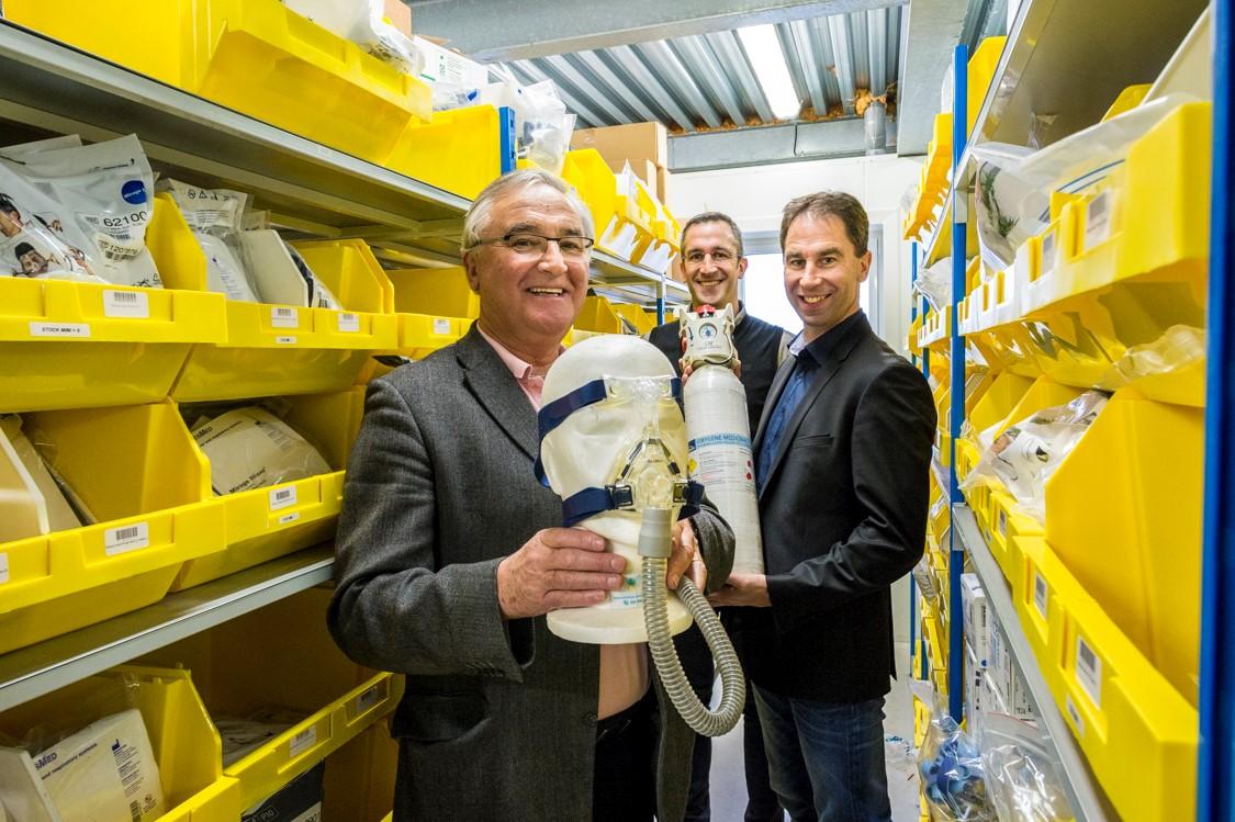 Robert, Jean-Baptiste et Matthieu Kerleroux, dirigeants d'Alliance Médicale Services