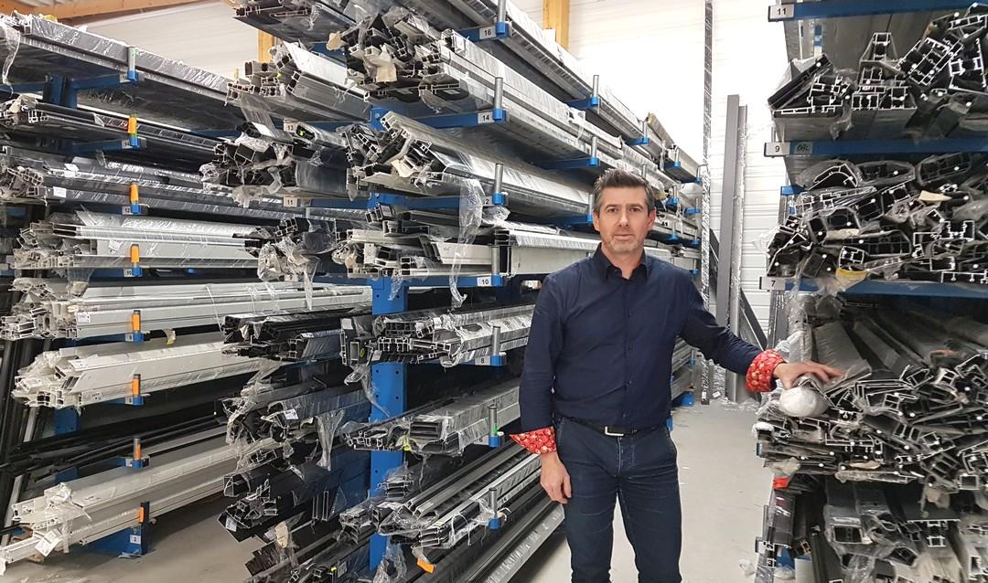 Gildas Corbel a repris, en juin 2018, la société Aluminium Systèmes.