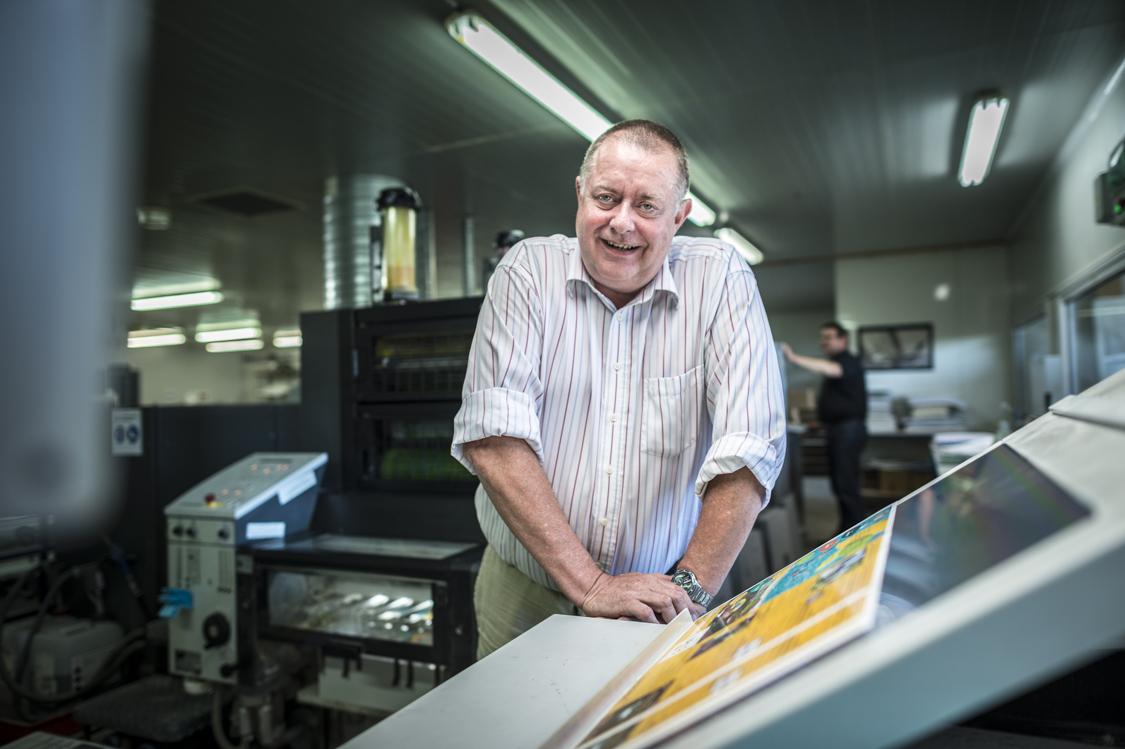 Pascal Parmentier, Directeur de l'imprimerie Primset et co-fondateur de la start-up Armen Paper