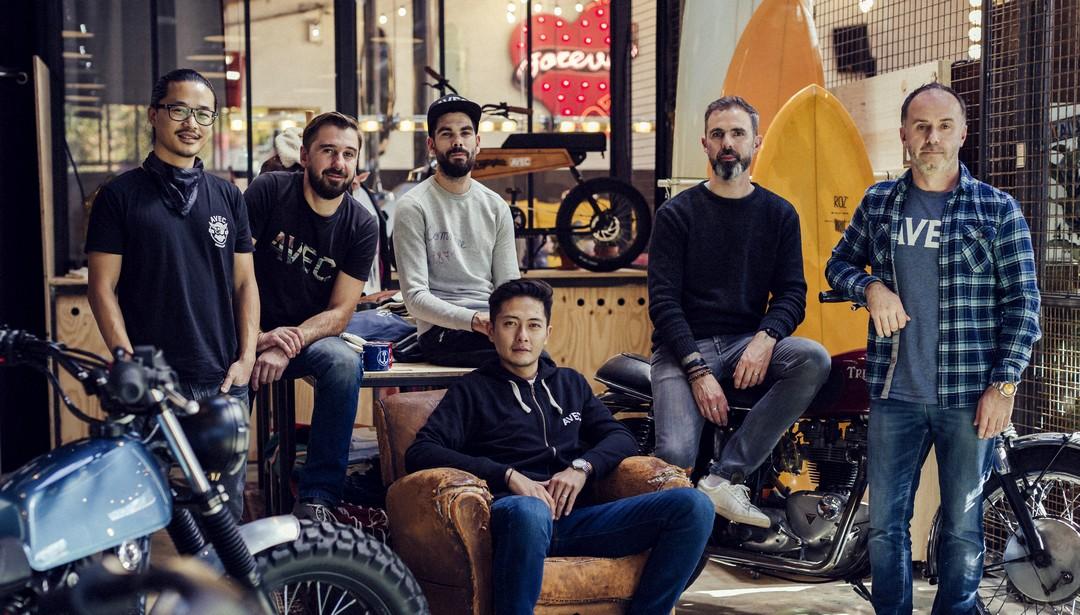 Les associés d'Avec à Rennes (de g à d) : François Brault, Mickël Simon, Allan Vincent, Jacques Thip Thiphakone, Nicolas Sturm et Allan Ploux