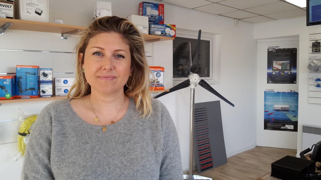 Juliette Girard dirige la société Teem à Pordic avec son père François,