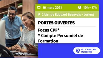 Portes ouvertes à CCI Formation Morbihan : utilisez votre CPF pour vous former