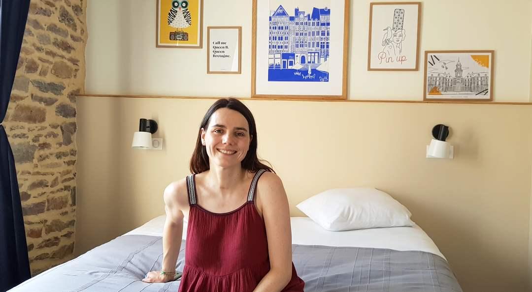 Camille Clar a eu un véritable coup de coeur pour cet ancien hôtel en bordure de Vilaine aujourd'hui entièrement rénové