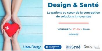 Le 27 septembre à Rennes : Pourquoi, comment et quand intégrer le design dans un projet santé ?
