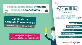 Crisalide éco-activités : nouvel appel à candidatures ouvert aux entreprises et porteurs de projets du Grand Ouest
