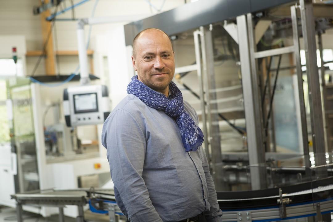 Eric Gautier, à la tête du groupe MG-Tech, à qui appartient également la société ID Pack présente à Val d'Izé (35)
