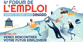 Le 23 mars, participez au 4ème Forum de l'Emploi à Dinard