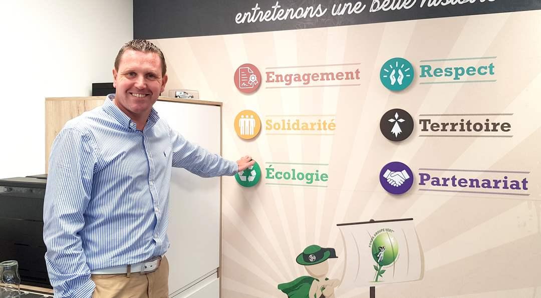 Nicolas Rault, co-dirigeant de Groupe vert à Plerin