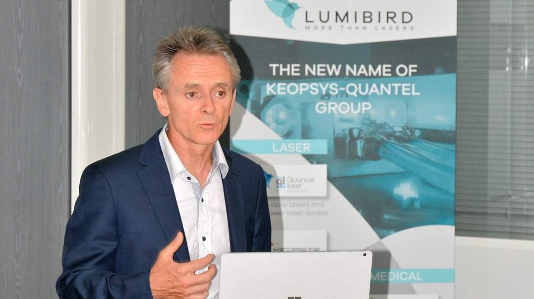 Marc Le Flohic, actionnaire principal Lumibird installé à Lannion où il emploie 170 collaborateurs sur les 800 que compte le Groupe.