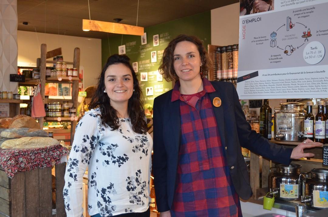 Amandine Josse et Maud Pouteau ont ouvert  Mamie Mesure, une « épicerie alternative de proximité »  (EAP) en plein cœur de Vitré 35