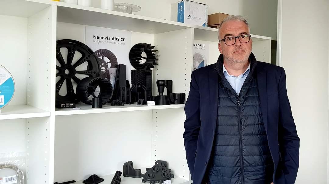 Jacques Pelleter , créateur et dirigeant de Nanovia à Louargat dans les Côtes d'Armor