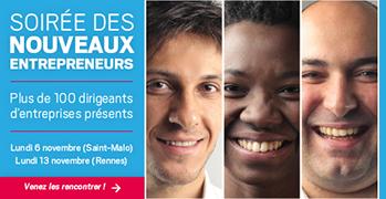Réservez votre soirée, le 6 novembre à Saint-Malo ou le 13 novembre à  Rennes. Plus de 100 dirigeants seront présents !