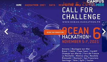 Ocean Hackathon® 2021. Appel à défis ouvert jusqu'au 6 juin