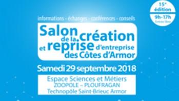 Participez à la 15ème édition du salon de la création / reprise d'entreprise des Côtes d'Armor, le samedi 29 septembre à Ploufragan.