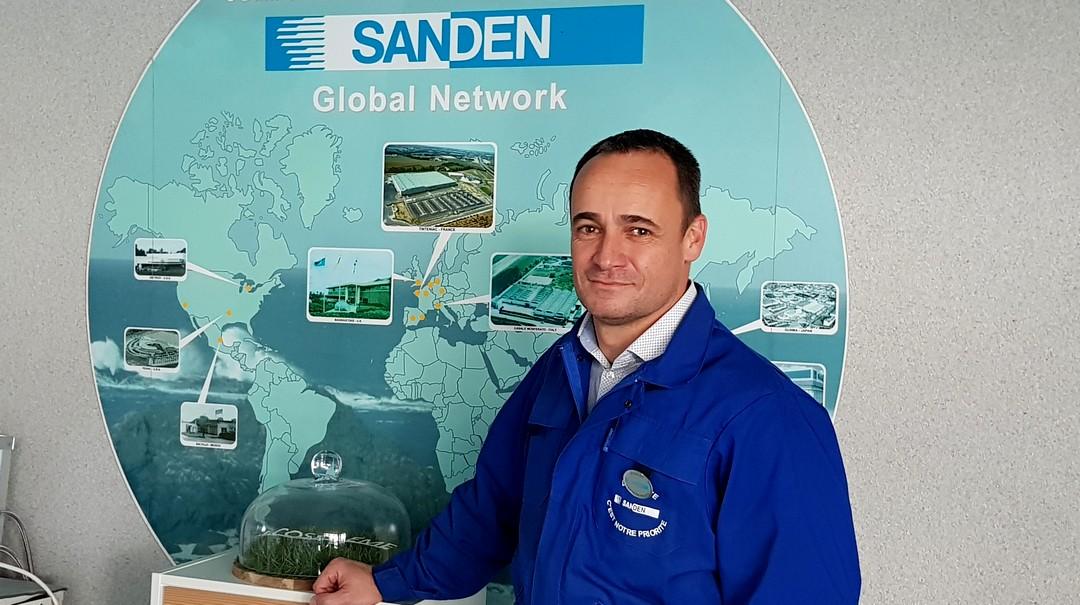 Jérôme Bruneau, Responsable des ressources humaines depuis 5 ans du site de Sanden Manufacturing Europe à Tinténiac.