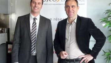 Eric Versey, directeur région Oséo (à gauche