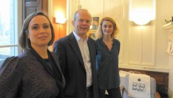Léna Roudaut, My Movie Up, Christophe Bapst, président des Finistere Angels et Anne le Calvez, Eqwall