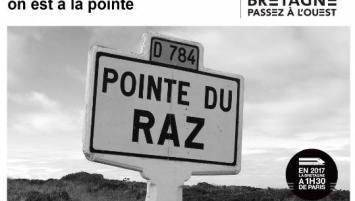 Dans le cadre de l'arrivée de la Grande Vitesse mettant la Bretagne à 1h30 de Paris, la Région Bretagne a lancé en mars 2017 la campagne d'attractivité Passez à l'Ouest*.