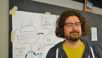 Nicolas Masztaler, une trentaine  d'années, passionné de BD a  créé en novembre  2016 sa start-up : « La Fabrique de dessins »