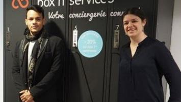 Fondatrice de la société Box'n services, Marion Tesson a lancé en avril 2016 dans l'agglomération nantaise ses premières conciergeries connectées. Deux implantations viennent de voir le jour dans la périphérie rennaise au Centre hospitalier de Saint-Grégoire  et au  siège d'Orange  à Cesson-Sévigné.