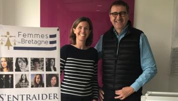 L'association Femmes de Bretagne portée par Marie Eloy s'engage  aux côtés de Frédéric Lescure  , Président de Breizh Lab