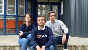 Elise Albert, Nicolas Mahé et Matthieu Merceron, co-fondateurs de Buldi