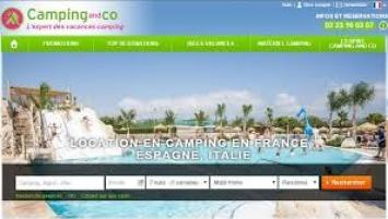 Le site  de Camping and Co propose 1500 destinations dans 10 pays d'Europe.
