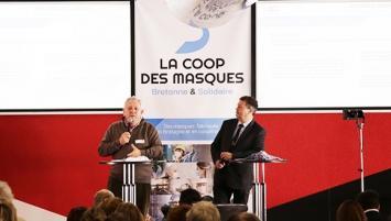 Guy Hascoët, Président de la Coop des masques, lors de la 1ere assemblée générale de la coopérative, en décembre 2020