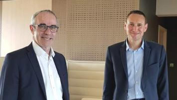 Jean-Yves Carillet et Olivier Auffray, respectivement, Directeur et Président du Crédit-Agricole d'Ille-et-Vilaine