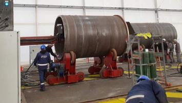 Le démarrage de la construction des éléments des fondations jacket sur le polder de Brest lance officiellement le projet de Saint-Brieuc dans sa phase de fabrication.