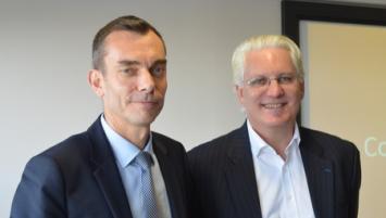 Gilles Tellier, Directeur des aéroports Rennes Dinard Bretagne et François Bacchetta, directeur général d'Easy Jet