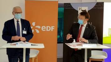 Jean-Bernard Lévy, PDG du groupe EDF et Loïg Chesnais-Girard se sont engagés, ce jeudi 17 septembre à Rennes, à coopérer ensemble pour faire de la Bretagne une « région leader » de la transition énergétique.