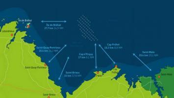 Le projet de parc éolien marin en baie de Saint-Brieuc, porté par Ailes Marines, a démarré en mai