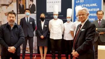 De G à D  au 1er plan : Emmanuel Thaunier , Pdt CCI Ille-et-Vilaine et Didier Kling, Pdt CCI Paris île de France