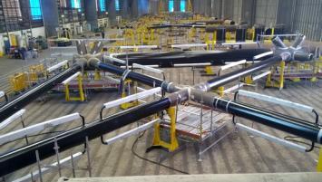 Les composants de la fondation seront assemblés sur le polder de Brest par la société Navantia sur un espace dédié de 11 hectares situé au nord du site.