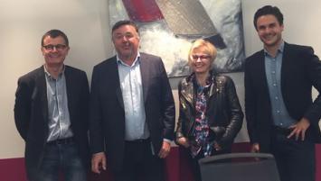 DE G à D : Gilles Coïc ; Hervé Cozigou, Valérie Coïc et Antoine Cozigou