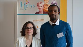 Julie Fléjeau Responsable RH au sein de Soréal et El-soidik Houmadi à la recherche d'un emploi