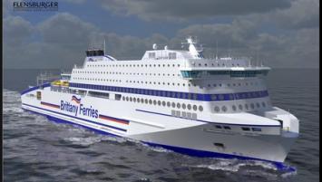 Le Honfleur, futur navire de la Compagnie maritime Brittany Ferries