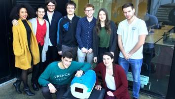 Concours innovation ENSCR Rennes : Cette année, la boîte de transport pour animaux de compagnie, « Cosy pet carrier rafle le 1er prix ».