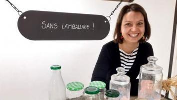 Justine Genty, en passe d'ouvrir la première épicerie vrac à Lamballe dans les Côtes d'Armor