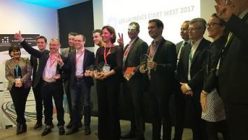 Les lauréats de la la 17ème édition des rencontres Start West à Rennes