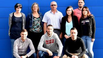 Daniel Lautru (au centre) et son équipe