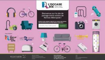 Inciter les rennais et autres habitants de la Métropole à réduire leurs déchets et à échanger entre eux des objets d'occasion, c'est l'objectif que s'est fixé Rennes Métropole en lançant « LoccaseRie.fr.