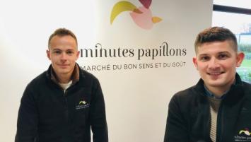 Matthieu Le Goff et Valentin Pichard ont ouvert Minutes Papillons, à Baud.