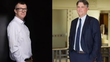 Loïc Cueff, vice-président du tribunal de commerce de Lorient et Pierre Montel, président de la CCI du Morbihan