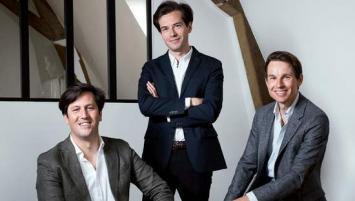 De gauche à droite :  Roc'h de Salins,  Grégoire du Guerny et  Thomas Blin, les trois associés de Ouiker