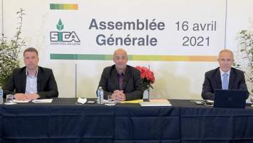de gauche à droite :  Thomas Quillevéré, secrétaire général, Marc Kerangueven, président, et Olivier Sinquin, directeur.