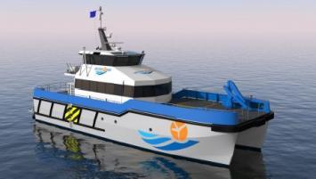 Le navire WFSV 26w de Piriou permet des transferts rapides et sûrs.