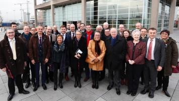 À l'invitation d'Elisabeth Borne, Ministre des transports, la Bretagne a participé ce vendredi au déplacement de la Ministre en Irlande, consacré à la promotion des ports français dans la perspective du Brexit.